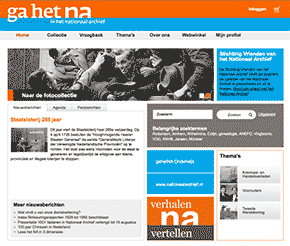 screenshot nationaal archief website