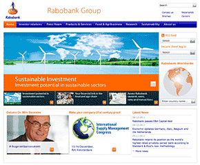 screenshot Rabo website